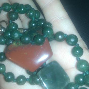 Inky jadeite necklace?