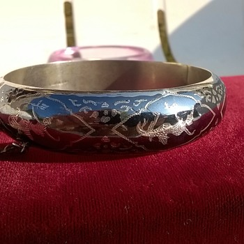 Siam Niello Silver Bracelet Thrift Shop Find 7, 50 Euro ($8.37) - Fine Jewelry