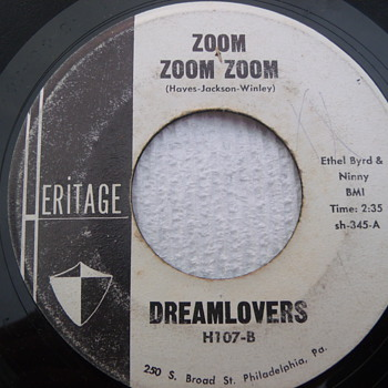 "Philly DooWop Promo 45 ""Zoom Zoom Zoom"" by Dreamlovers - Records"