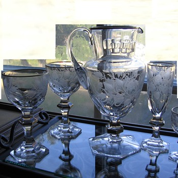 Estate Antique French Crystal Collection - Glassware