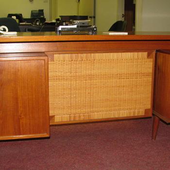 Teak Secretary Desk & Small Credenza