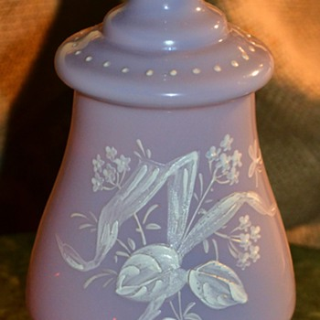 Lavendar Opaline Bottle from Victorian Dresser Set - Art Glass