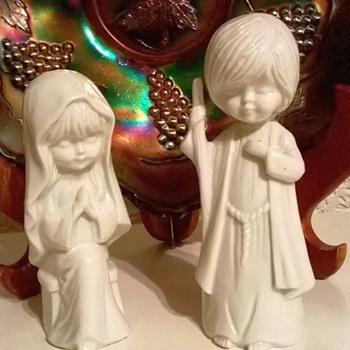 1976 Moppets Fran Mar Korea Ceramic Figurines Thrift Shop Find 5,90 Euro ($6.25) - Christmas