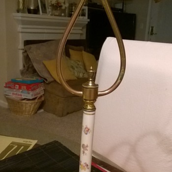 My first Antique Porcelain Candlestick Lamp - Lamps