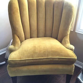 Yellow velvet chair - Furniture