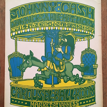 Johnny Cash at the Carousel Ballroom, 1968 - Posters and Prints