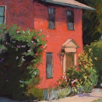 "Diane Grgurus Contemporary Pastel ""Sunflower House"" - Fine Art"