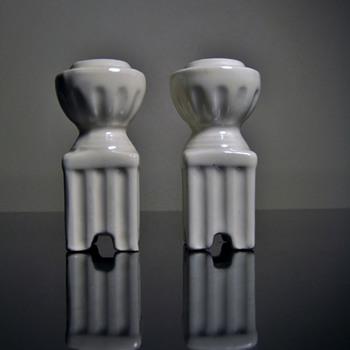 ART DECO CANDLESTICK -CZECHOSLOVAKIA - Pottery