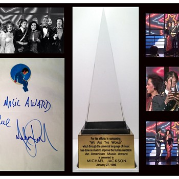 """MICHAEL JACKSON'S AMERICAN MUSIC AWARD FOR """"WE ARE THE WORLD"""""""