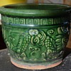 Old Chinese flower pot with molded dragons