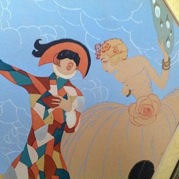 Harlequin print - Art Nouveau