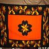 Very heavy Mexican Blanket - Geometric and Orange