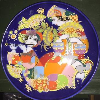 Rosenthal Bjorn Wiinblad plate - Pottery