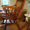 Cherry wood rocking chair