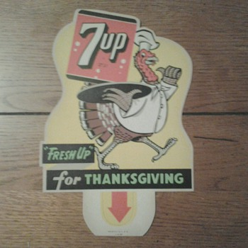 Various 7 Up Holiday Bottle Top Signs - Signs