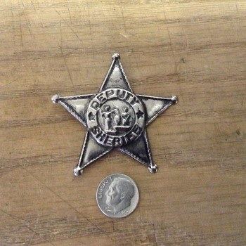 My childhood Deputy Sheriff badge - Medals Pins and Badges