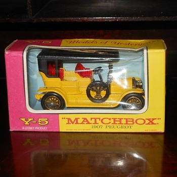 Matchbox Monday Matters Matte Black Roof Yesteryear Y5 1907 Peugeot - Model Cars