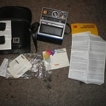 Kodak EK6 Instant Camera with case, instructions and strap, Vintage retro film camera mint condition