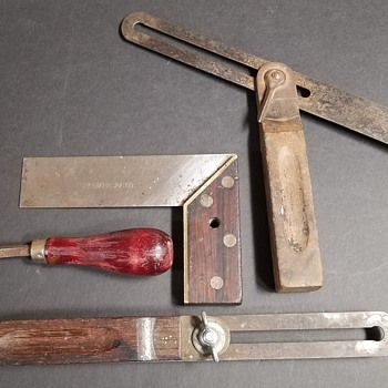 1909 Square &  Sliding T-Bevel Gauges - Tools and Hardware