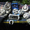 Scottish Sterling Montrose  Agate Brooches