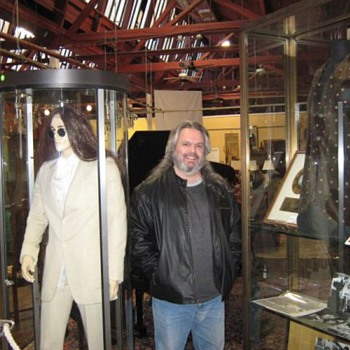 "Me with Lennon's""Abbey Road"" suit...and ""Imagine"" jacket..."