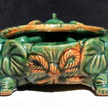 majolica baby elephant planter - Pottery