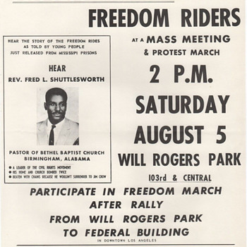 1961 Original CORE Handbill Protest Unjust Jailing Freedom Riders - Politics