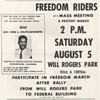 1961 Original CORE Handbill Protest Unjust Jailing Freedom Riders