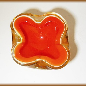 Vintage Murano Art Glass Bowl - Art Glass