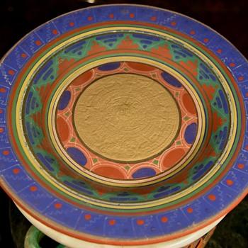 Mayan [Aztec] Revival Platter - Pottery