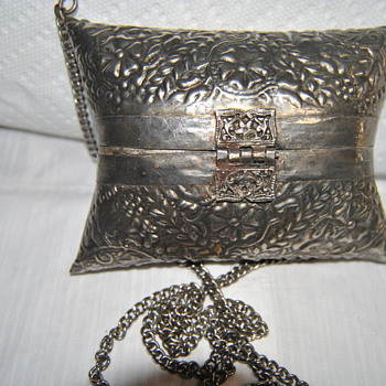 hand made silver purse late 1800's - Bags