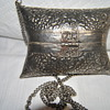 hand made silver purse late 1800's