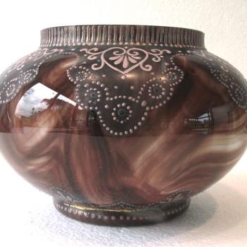 Loetz Marmoriertes Onyx - c1890 - Art Glass
