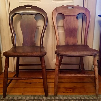 Pennsylvania Plank Bottom Chairs QUESTIONS! - Folk Art