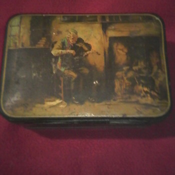 R Hughes Biscuit tin