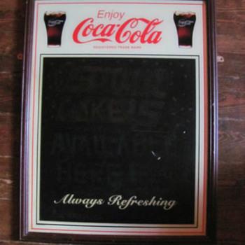 COCA-COLA CHALK MENU BOARD  - Coca-Cola