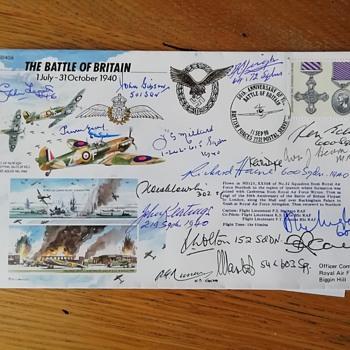 Battle of Britain pilots signatures. - Stamps