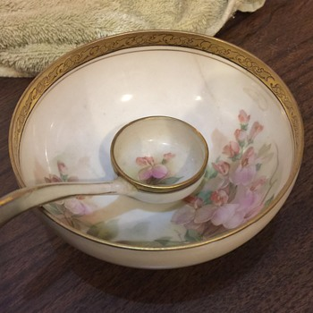 Marked R S Germany Footed bowl and Spoon  Unknown exact name ??? - China and Dinnerware
