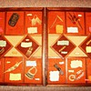 Display illustrating items made by people of New Guinea
