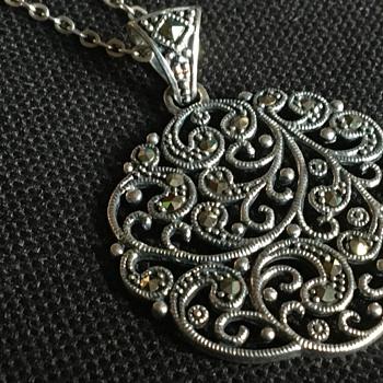 Vintage silver pendant necklace  - Fine Jewelry