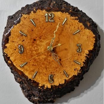 Bird's Eye Maple Burl Clock - Clocks
