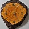 Bird's Eye Maple Burl Clock