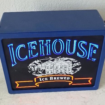 Miller Icehouse Ice Brewed Portable Display or Sign ofr indoor use only - Signs