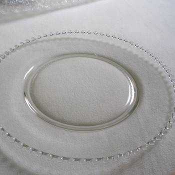 Imperial Candlewick- Round Glass Plater - Glassware