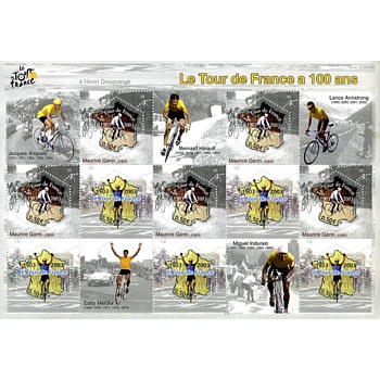 Le Tour de France: commemorative 100th anniversary stamps (2003) - Stamps
