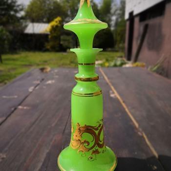Green opaline carafe - Art Glass