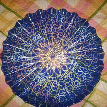Blue dish - Glassware