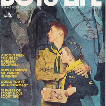 Febuary 1979 Boys' Life Norman Rockwell Cover Plus Action Figure Theater - Paper