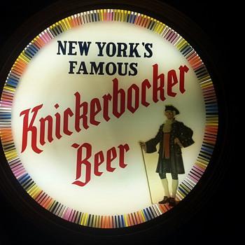 Knickerbocker Beer Motion Sign 1952
