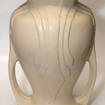 "Stoneware vase 9"" tall 7"" wide very heavy - Pottery"